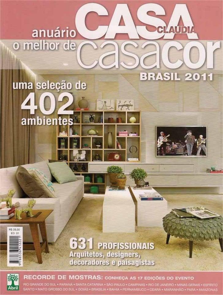 Anuário CASA CLAUDIA - O melhor de casacor - BRASIL 2011