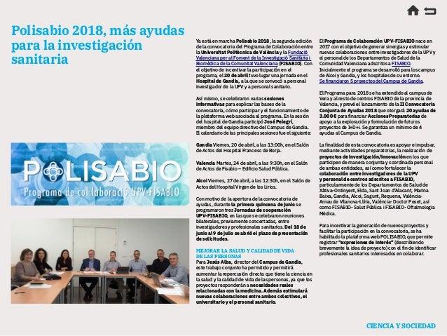 Calendario Etsa Upv.Anuario De Actualidad Cientifica 2018