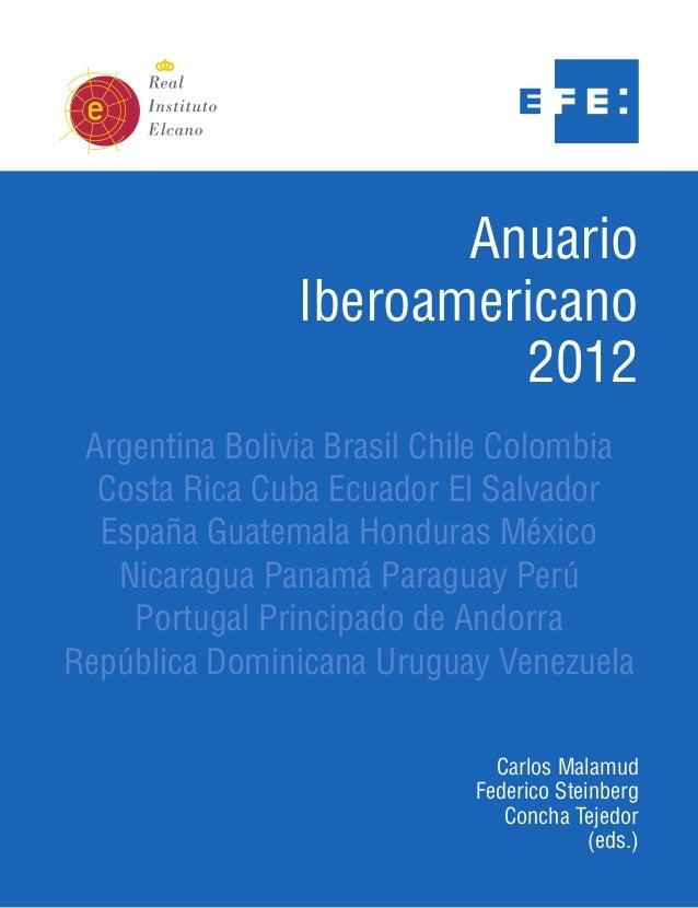 Anuario                Iberoamericano                         2012 Argentina Bolivia Brasil Chile Colombia  Costa Rica Cub...