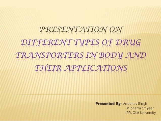 Presented By-Presented By- Anubhav Singh M.pharm 1st year IPR, GLA University.