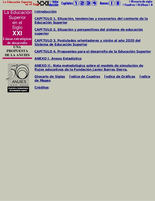 La Educación Superior en el Siglo XXI Líneas estratégicas de desarrollo UNA PROPUESTA DE LA ANUIES Introducción CAPÍTULO 1...