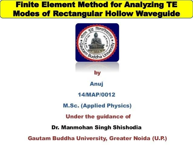 finite element method for waveguide