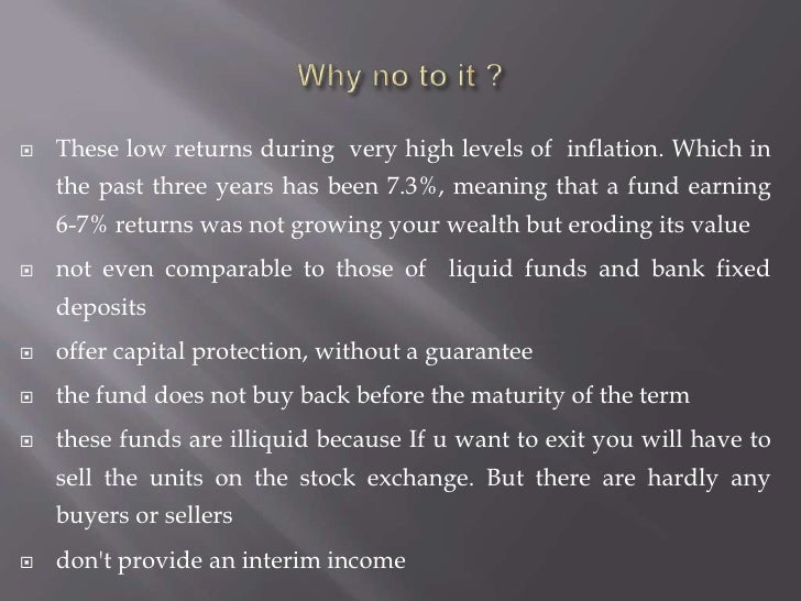 Why no to it ?<br />These low returns during  very high levels of  inflation. Which in the past three years has been 7.3%,...
