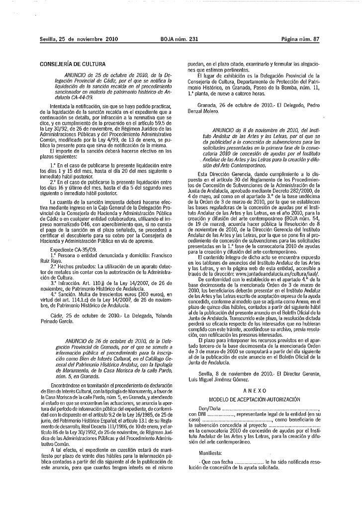 Anuncio concesión ayudas 2010 1ª fase