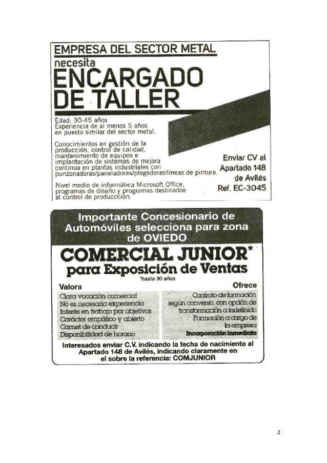 Anuncios de empleo en prensa extra dos el domingo 29 de for Ofertas de empleo en la linea