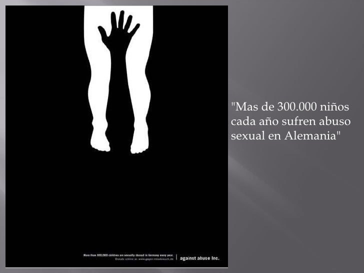 """""""Mas de 300.000 niños cada año sufren abuso sexual en Alemania"""""""