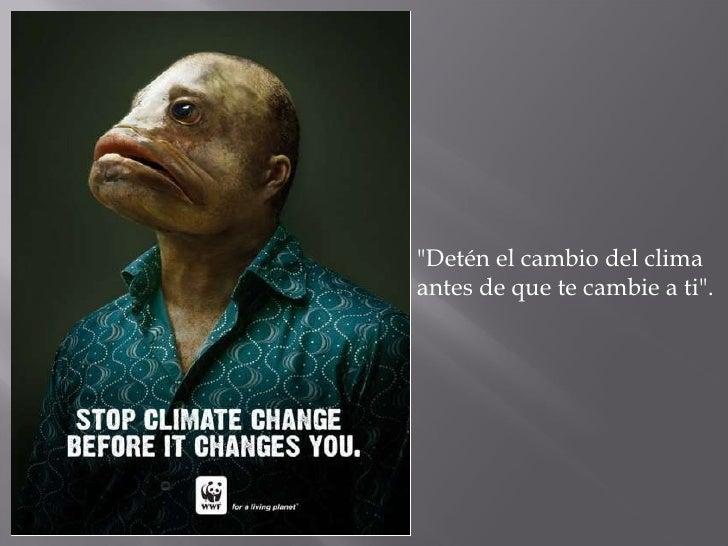 """""""Detén el cambio del clima antes de que te cambie a ti""""."""
