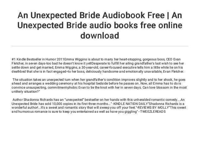 An Unexpected Bride Audiobook Free | An Unexpected Bride audio books …