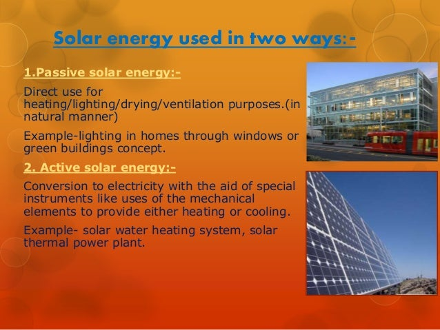 Anupam Das Active Solar Energy Ppt