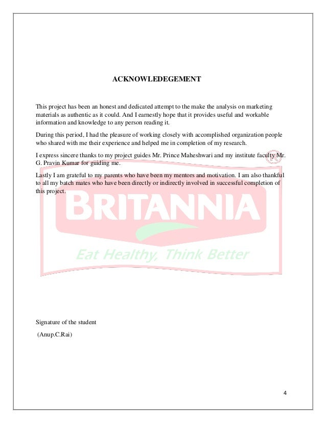 """a project report on britannia industries The project included as part of pgdm programme and the project is done 11 title """"market analysis & sales development for britannia dairy product in institutional business in chandigarh , mohali and zirakpur 12 organization ."""