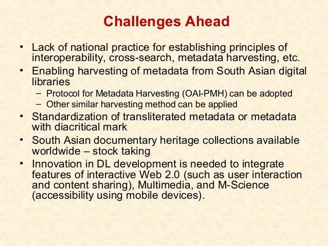Examining Semantic Web Principles• Indic language metadata – providing metadata in all  major Indian languages for a full-...