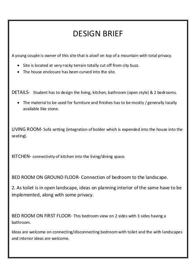 95 interior design project brief examples interior for Interior design assignments examples