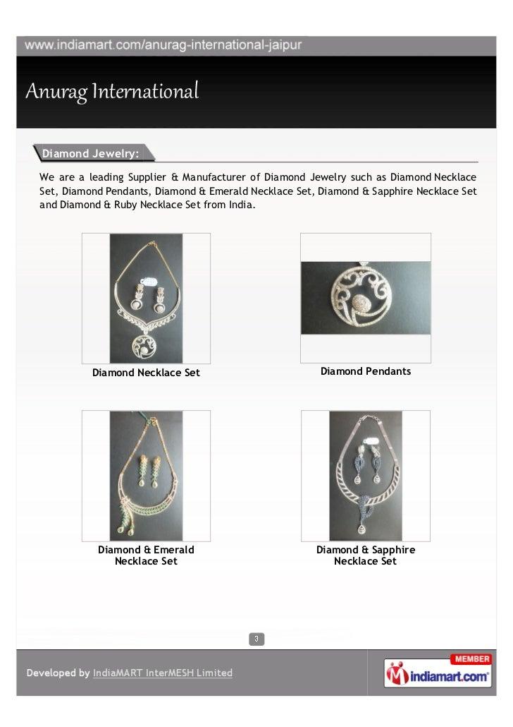 Anurag International, Jaipur, Diamond Jewelry Slide 3