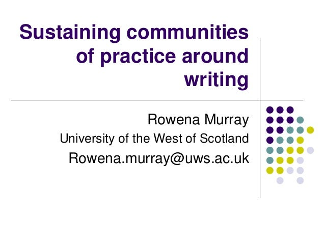 essay on communities of practice Three types of communities are particularly  the role of communities of practice in the emergence of scottish  elizabeth montagu's shakespeare essay.