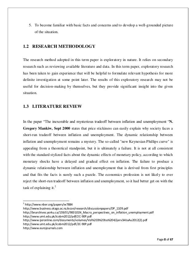 research paper on inflation Research proposal on inflation research proposal and proposal review part 1: research proposal the research proposal is a formal paper in which the learner is given the opportunity to propose a research study to investigate a relevant health care topic of interest.