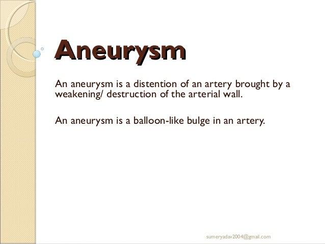 Aneurysm and av fistula Slide 2