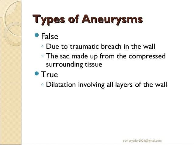 Aneurysm and av fistula Slide 3