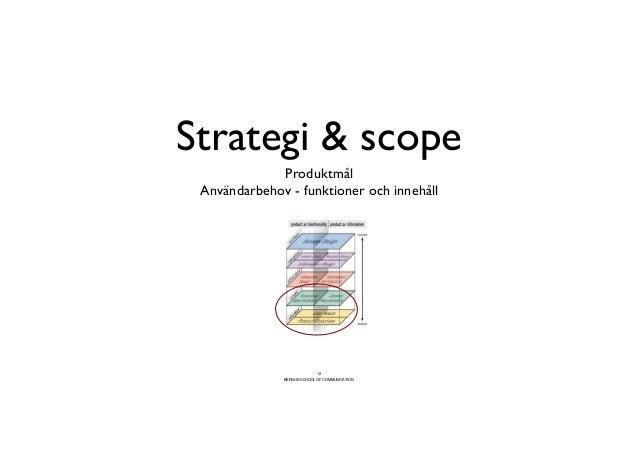 Strategi  scope                            Produktmål   Användarbehov - funktioner och innehåll                         ...