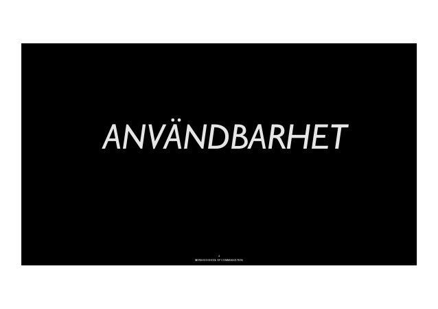 -ANVÄNDBARHET                                4      BERGHS SCHOOL OF COMMUNICATION