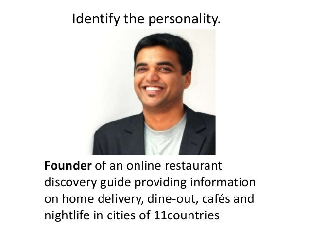Founder of an online restaurant discovery guide providing information on home delivery, dine-out, cafés and nightlife in c...