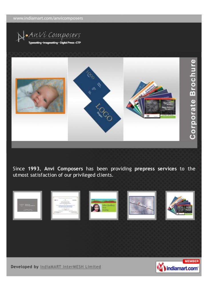 Since 1993, Anvi Composers has been providing prepress services to theutmost satisfaction of our privileged clients.