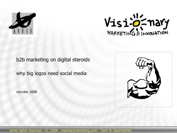 b2b marketing on digital steroids why big logos need social media