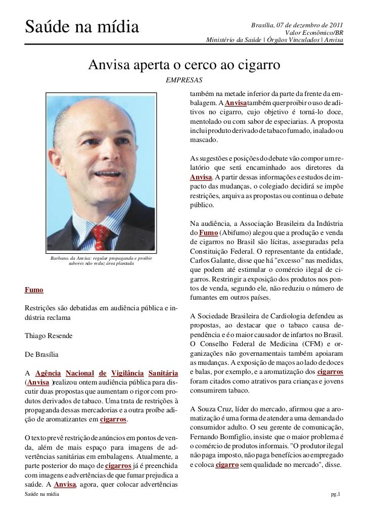 Saúde na mídia                                                                          Brasília, 07 de dezembro de 2011  ...