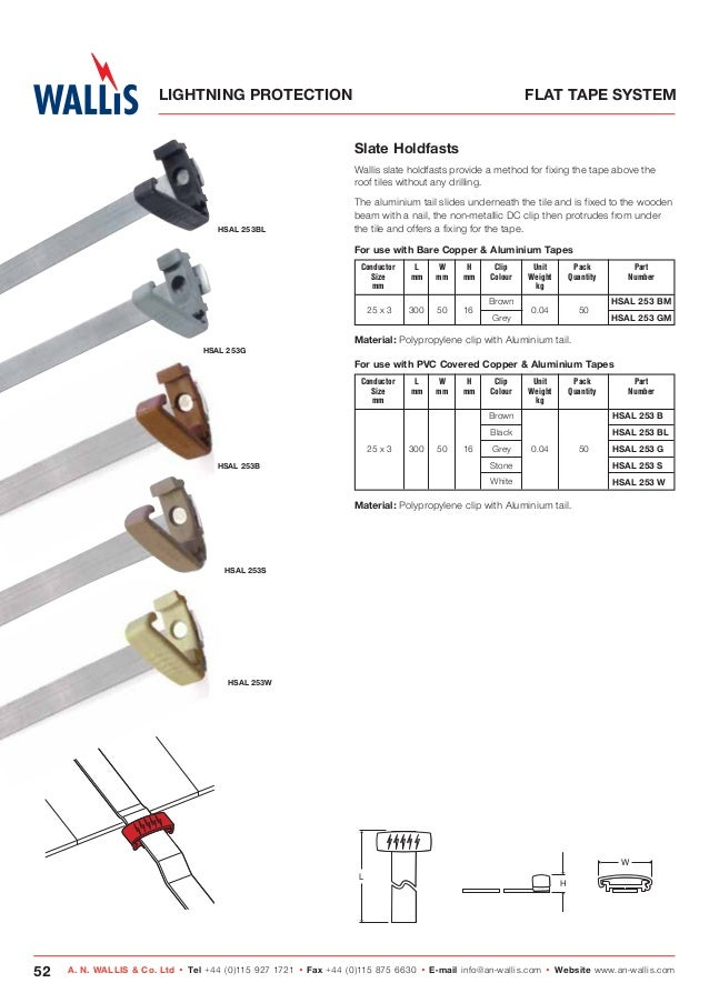An Wallis Earthing Amp Lightning Protection Catalogue