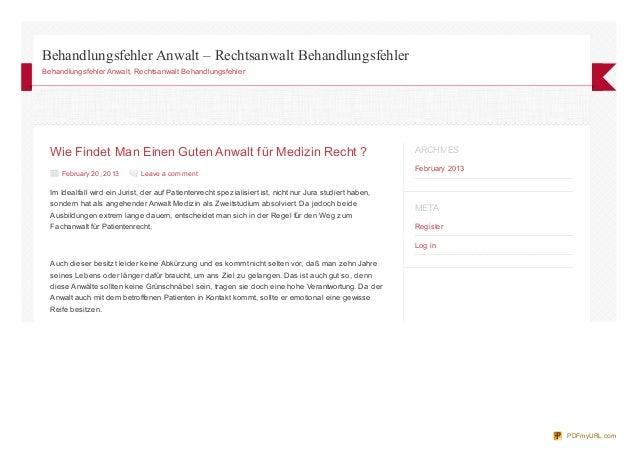 Behandlungsfehler Anwalt – Rechtsanwalt BehandlungsfehlerBehandlungsfehler Anwalt, Rechtsanwalt Behandlungsfehler  Wie Fin...