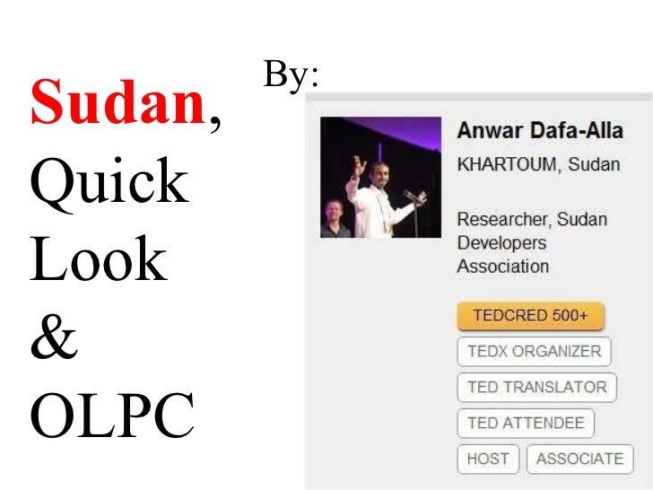 By: Sudan , Quick  Look & OLPC
