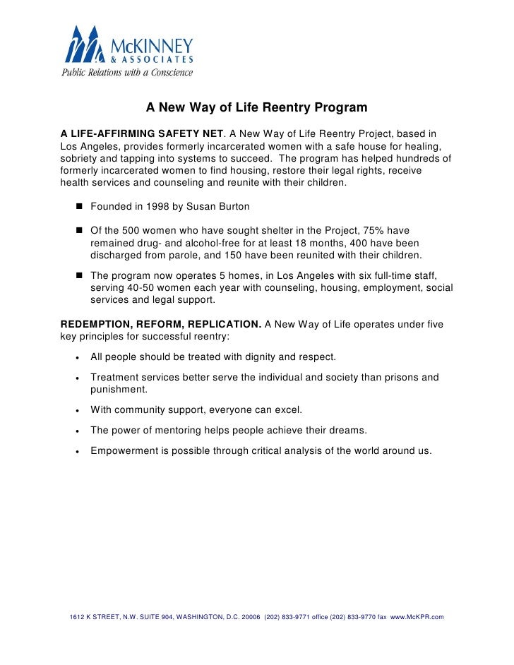 A New Way of Life Reentry Program  A LIFE-AFFIRMING SAFETY NET. A New Way of Life Reentry Project, based in Los Angeles, p...