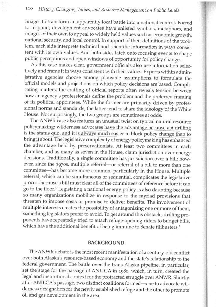 ANWR Oil versus Wilderness (chapter5) Slide 2