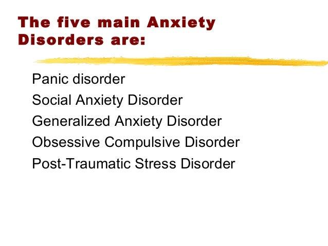 Anxiety Disorders Slide 3