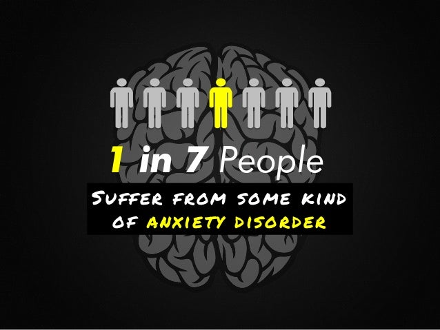 1 in 7 People   Suffer from some kind of anxiety disorder