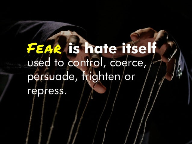 But fear is a natural reaction designed to allow us to survive.
