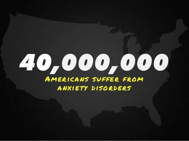 40,000,000Americans suffer from anxiety disorders