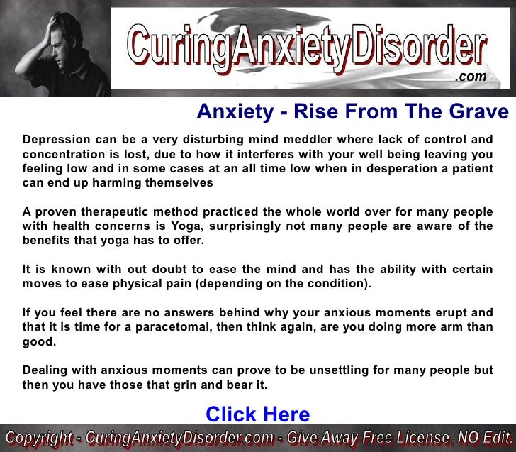 Panic Disorder Natural Cure