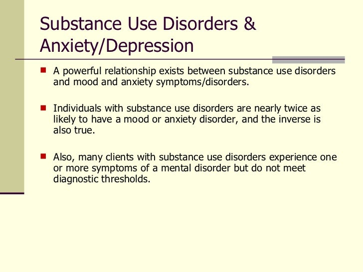 what is the relationship between substance use and co occurring disorders