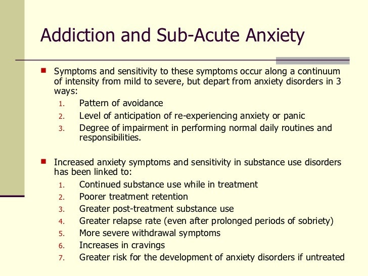 presenting problem of severe anxiety The essential feature of separation anxiety disorder is excessive car accidents, plane travel, and other situations that are perceived as presenting danger to the.
