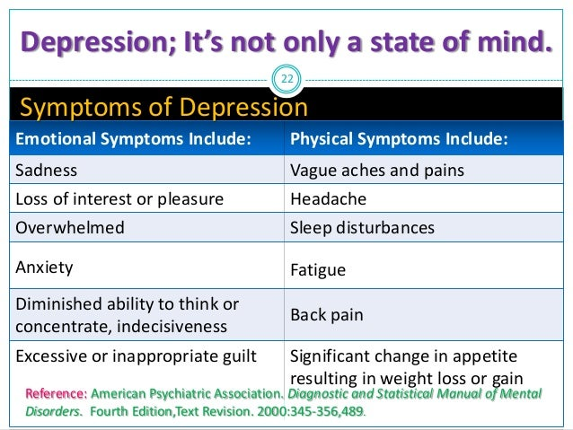 how to stop physical depression