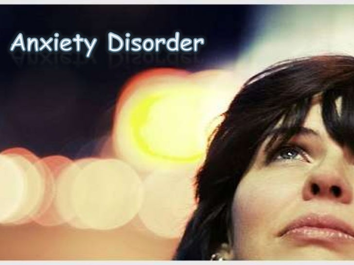 Anxiety disorder Slide 1