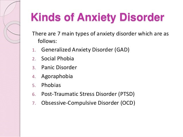 definition and types of the anxiety disorder In this article, we discuss how the the former dsm-iv category of anxiety disorders became three separate categories in dsm-5 these three categories are: 1 anxiety disorders (separation anxiety disorder, selective mutism, specific phobia, social phobia, panic disorder, agoraphobia, and.