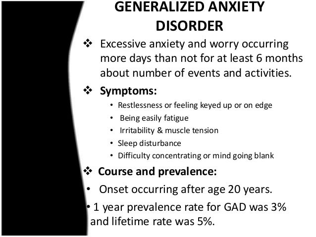 Anxiety Disorder: Symptoms, Diagnostic Criteria N Treatment