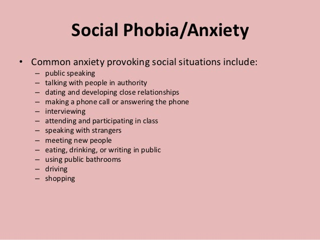 Anxiety disorders 8 nov