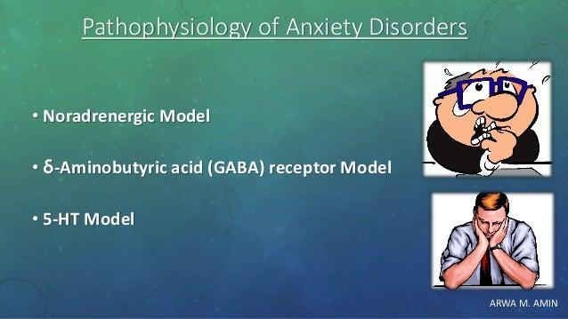 ARWA M. AMIN Pathophysiology of Anxiety Disorders • Noradrenergic Model • δ-Aminobutyric acid (GABA) receptor Model • 5-HT...