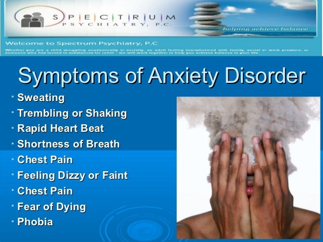 Anxiety disorder treatment Slide 2