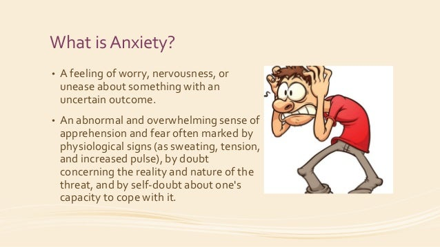 anxiety about presentation