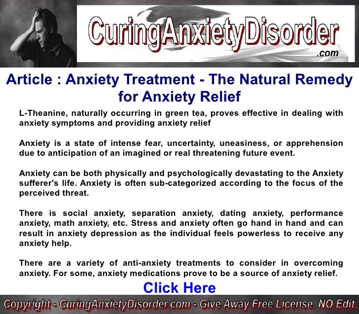 how to avoid anxiety naturally