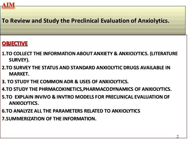 anxiolytic drugs : important, Skeleton