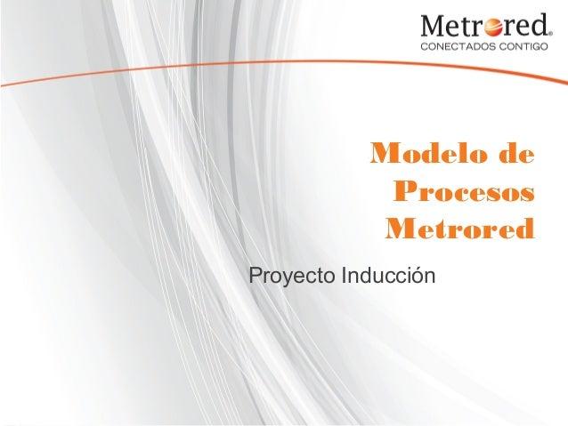 Modelo de Procesos Metrored Proyecto Inducción